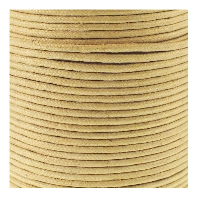 2mm Waxed Cotton Cord - Mustard - 5m