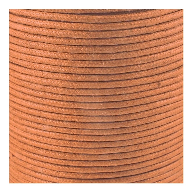 2mm Waxed Cotton Cord - Tan - 5m