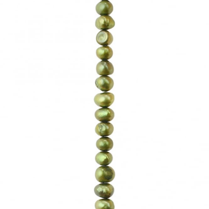 Pearl String Lights Red White Green : 3-4mm Potato/Round Freshwater Pearls - Light Green - 16