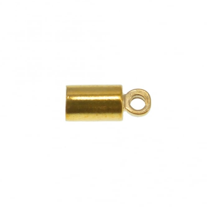 3.5mm Cord End Barrel Cap/Bell Closer - Gold Plated - 10pk