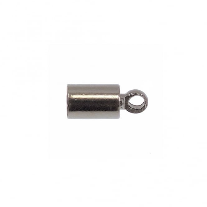 3.5mm Cord End Barrel Cap/Bell Closer - Silver Plated - 10pk