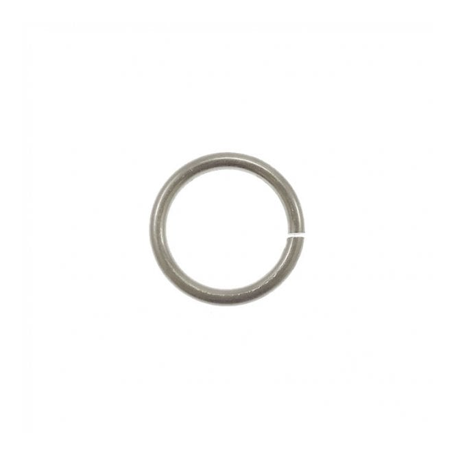 "3.6mm 9/64"" ID 19ga Saw Cut Jump Rings - Bright Aluminium - 5g (170+ apx)"