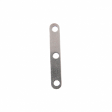 3 Hole Dividers, 20mm - Silver Plated - 20pk