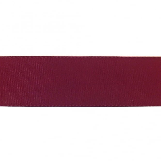 30mm Double Satin Ribbon - Wine - 5m