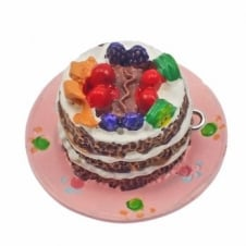 33x22mm Large Resin Cake Charm - Chocolate
