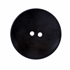 34mm 2 Hole Metal Disc Buttons - Black - 1pk