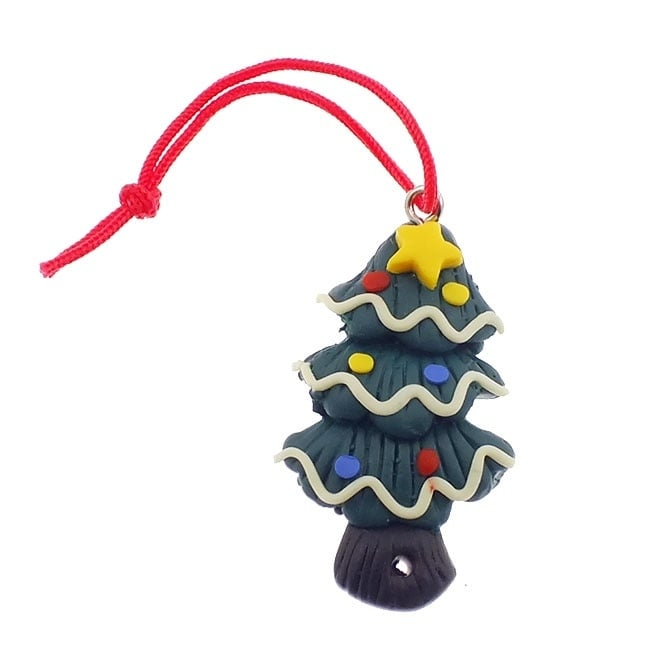 36mm Large Christmas Fimo Charm - Christmas Tree - 1pk