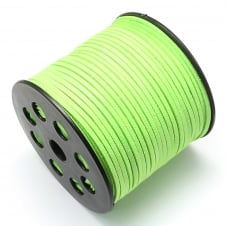 3mm Flat Faux Suede Cord - Bright Green - 5m