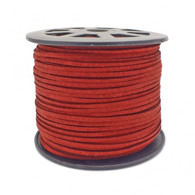 3mm Flat Faux Suede Cord - Burgundy - 5m