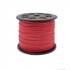 3mm Flat Faux Suede Cord - Coral - 5m