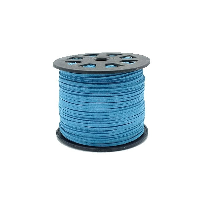 3mm Flat Faux Suede Cord - Dark Turquoise - 5m