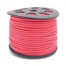 3mm Flat Faux Suede Cord - Hot Pink - 5m