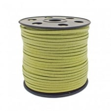 3mm Flat Faux Suede Cord - Light Green - 5m