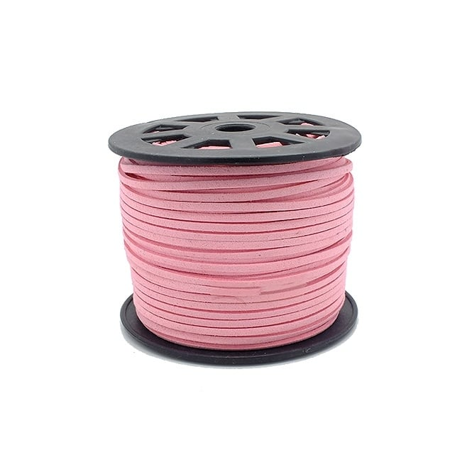 3mm Flat Faux Suede Cord - Light Peach - 5m