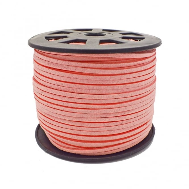 3mm Flat Faux Suede Cord - Light Pink - 5m