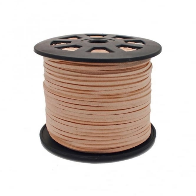 3mm Flat Faux Suede Cord - Light Tan - 5m