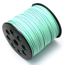 3mm Flat Faux Suede Cord - Mint - 5m