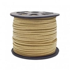 3mm Flat Faux Suede Cord - Natural - 5m