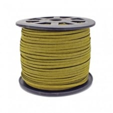 3mm Flat Faux Suede Cord - Olivine - 5m