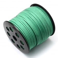 3mm Flat Faux Suede Cord - Sea Green - 5m