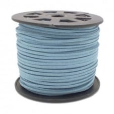 3mm Flat Faux Suede Cord - Slate Blue - 5m
