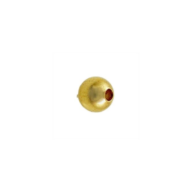 3mm Plain Metal Spacer Beads - Gold Plated - 100pk
