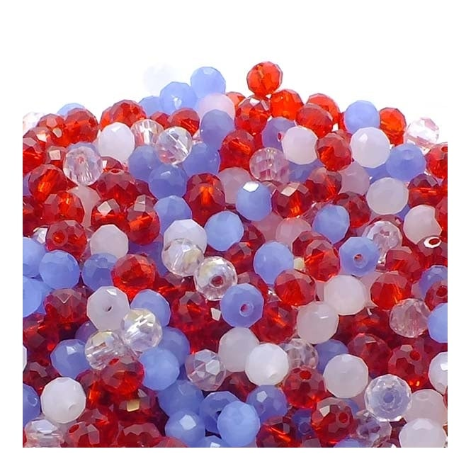 3x4mm Faceted Glass Rondelles - Jubilee - 50 Beads