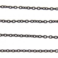 3x4mm Fine Steel Trace Chain - Black Plated - 1m