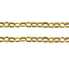 4.5x6.5mm Double Link Oval Chain - Gold Plated - 1m