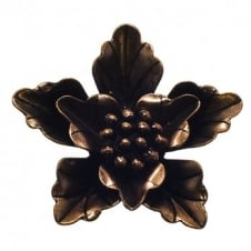 40mm Leaf Flower Pendant - Antique Copper Plated - 2pk