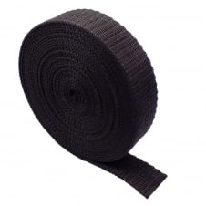 40mm Polypropylene Webbing Strap - Brown - 1 metre