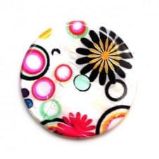 40mm Shell Disc Beads - 8