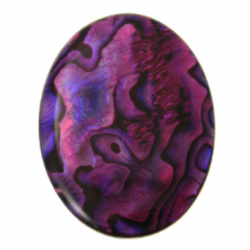 40x30mm Abalone Red Flat Shell Cabochon - 1pc