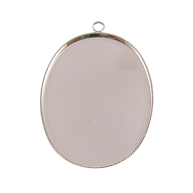 40x30mm Cameo Mount - Silver Plated - 1pk