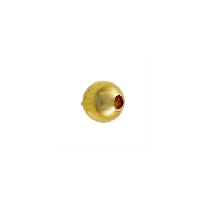 4mm Plain Metal Spacer Beads - Gold Plated - 50pk