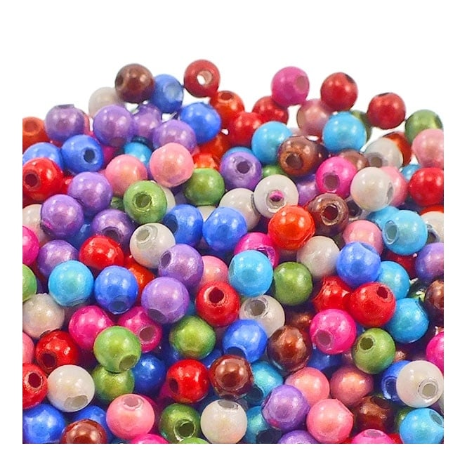 4mm Plastic Miracle Beads - Mix - 50pk