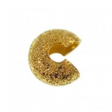 4mm Stardust Crimp Cover Findings - Gold Plated - 50pk