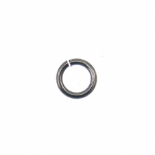 4mm Thin Jump Rings (0.8mm) - Black Plated - 200pk