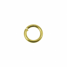 4mm Thin Jump Rings (0.8mm) - Gold Plated - 200pk