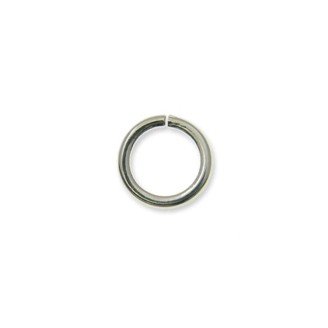 4mm Thin Jump Rings (0.8mm) - Silver Plated - 200pk