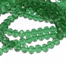 4x6mm Faceted Glass Rondelles - Sea Green - 50pk
