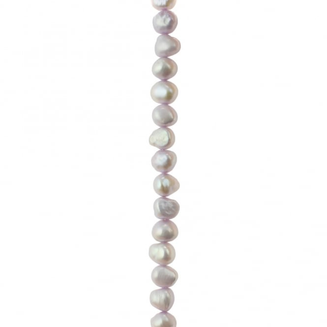 "5-6mm Freeform Freshwater Pearls - Lilac - 16"" String"