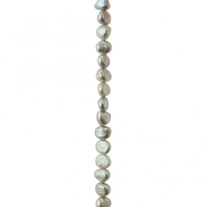 "5-6mm Freeform Freshwater Pearls - Silver - 16"" String"