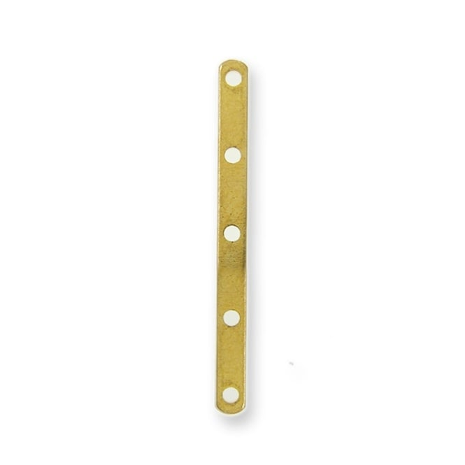 5 Hole Divider, 27mm - Gold Plated - 10pk