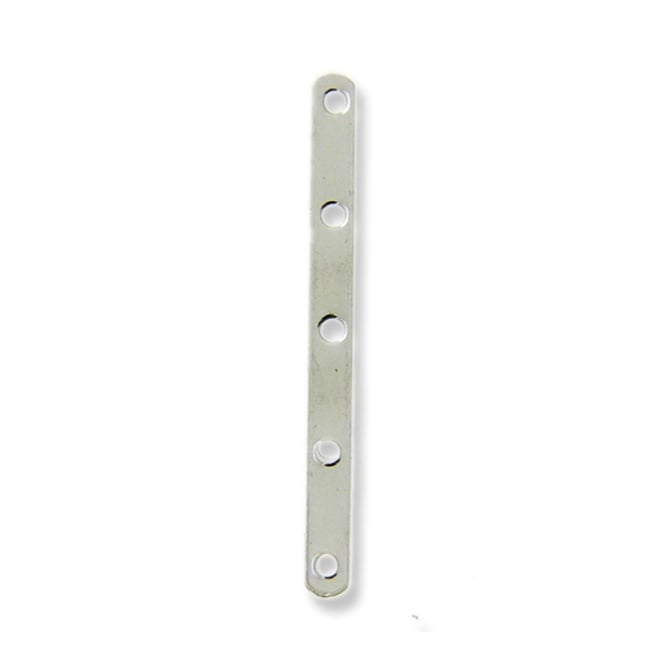 5 Hole Divider, 27mm Long - Silver Plated - 10pk