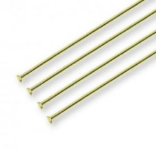 50mm Headpins Findings - Gold Plated - 100pk