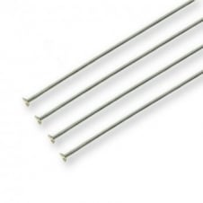 50mm Headpins Findings - Silver Plated - 100pk