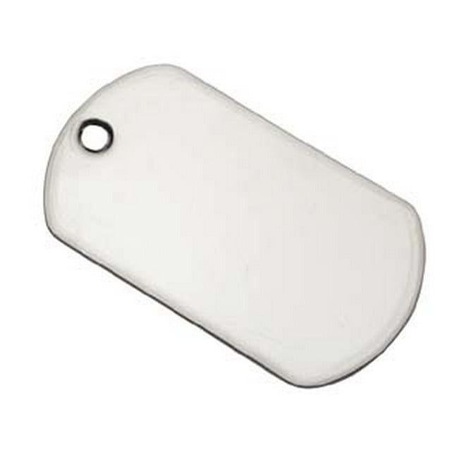 50x28mm Dogtag Blank Pendant - Stainless Steel - 2pk