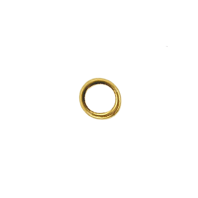 5mm Closed Jump Rings - Gold Plated - 50pk