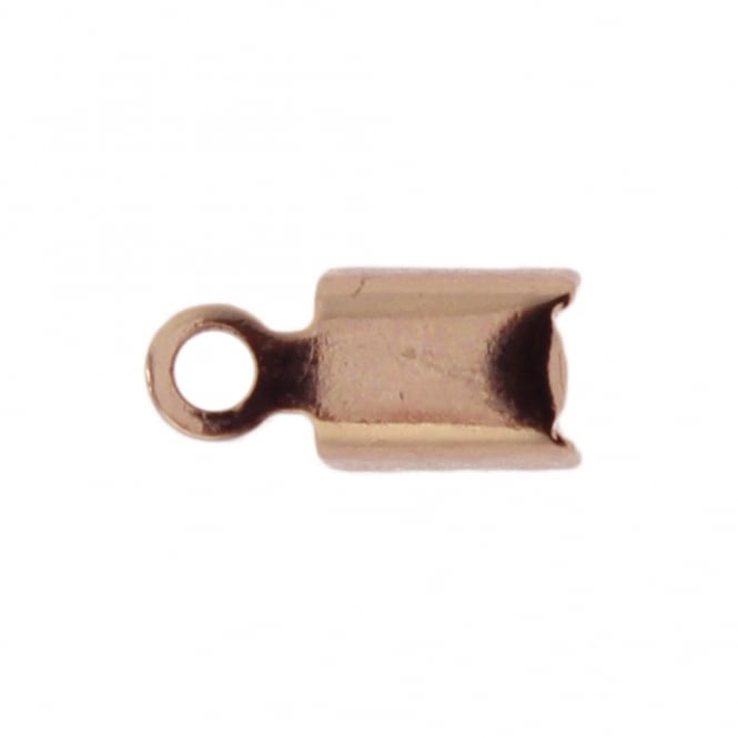 5mm Cord End Box Closer - Rose Gold Plated - 20pcs